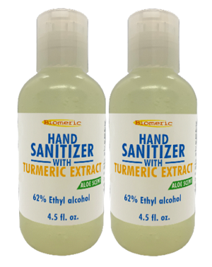 2 pack- Hand Sanitizer with Turmeric Extract